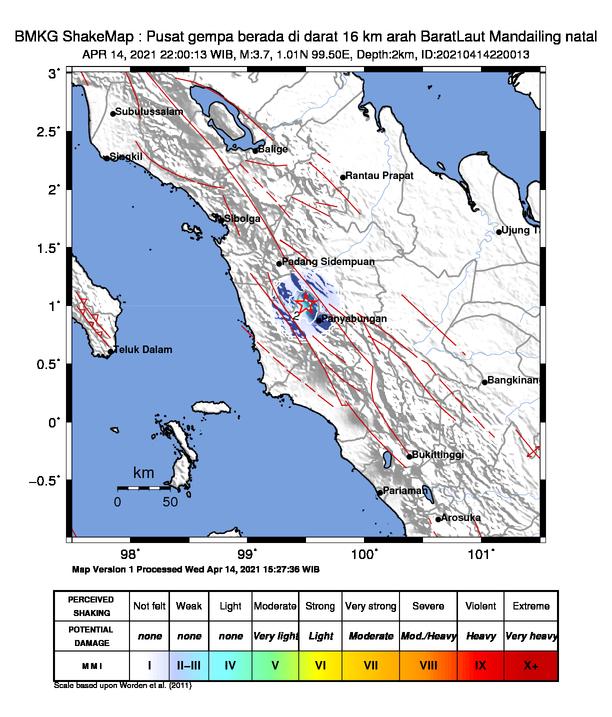 Gempa di 112 km BaratDaya MALUKUTENGGARA